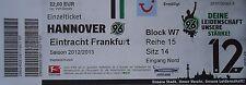 TICKET 2012/13 Hannover 96 - Eintracht Frankfurt