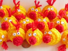 """10! XXL Fun Crochet Chicks - Embellishments For Easter Crafts - 30mm/1.25"""""""