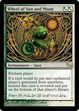 WHEEL OF SUN AND MOON Shadowmoor MTG White/Green Enchantment — Aura RARE
