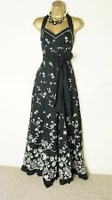 TED BAKER MAXI FULL LENGTH evening occasion DRESS  SIZE 4 FIT 14