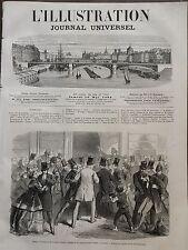 L' ILLUSTRATION 1866 N 1212 ASSAUT A LA MAISON DES BANQUES A LONDRES