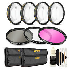 Vivitar 67mm Filter Kit + Macro Kit + 3pc Cleaning Kit for 67mm Lenses