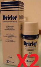 2 x Driclor Antiperspirant Roll 75ml New in box Free Shipping #01
