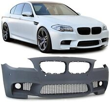 BMW F10 F11 5 Series M Sport FRONT M5 BUMPER ABS Plastic with fog lights tech F