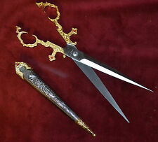 GOLD BODICE DAGGER SCISSORS MEDIEVAL RENAISSANCE FAIRE KNIFE LADIES WENCH PIRATE