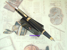 "SHEAFFER STILOGRAFICA ""GIFT 300"" LACCA NERA FINITURE PLACCATE  PENNINO MEDIO"