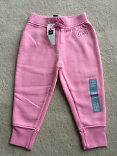 NEW NWT Girls Clothes Baby GAP Pink Sweat Pants Size 18 24 Months