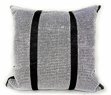 "CUSHIONS COVERS OR FILLED CRUSH VELVET LARGE FULL DIAMANTE/EDGING 17X17""43X43CM"