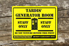 Dr who Tardis Staff Only sign Aluminium Composite for man cave sign Signage