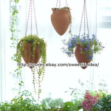 Pottery Hanging Secret Garden Cacti Succulent Plant Pot Flower Planter Mini