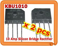 Single Phase 10A 1000V KBU1010 Diode Bridge Rectifiers 4pin KBU-1010 x (2 PCS)