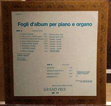 Library=Antonio Ricardo Luciani-Fogli D'Album Per Piano E Organo Lp EX