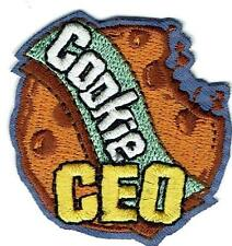 Girl COOKIES CEO executive manager cookie Fun Patches Crest Badge SCOUTS GUIDE
