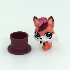 Hasbro Lady Fox & Plate LPS Littlest Pet Shop Figure Gift Toy Animals
