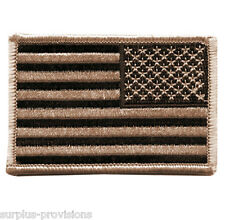 "Condor - Reverse American Flag Patch - 2"" x 3""inch Tan & Black with Velcro Back"