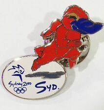 SYDNEY OLYMPIC GAMES 2000  MASCOT SYD RUNNING SPRINTING RACE PIN BADGE #496