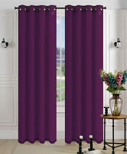 2Pcs. SEMI-Sheer Window Panel curtains SOLID GROMMET PLAIN STYLE DRAPES