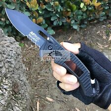 Mtech USA Black Handle Solar Pannel LED Light Rescue Pocket Knife MT-A887BK