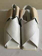 New with Defects $530 ACNE STUDIOS Fera White Leather Sandals Shoes 39