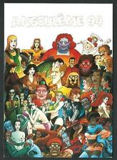 Lauzier : Angouleme - cartolina riproducente manifesto del 1994