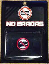 """12 Pairs of Individually Packaged """"NO ERRORS"""" WRISTBANDS / SWEATBANDS - BLACK!!"""