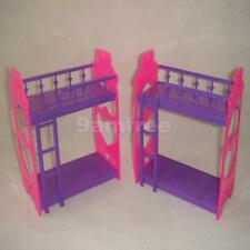 Random 1pc Plastic Bunk Bed Furniture Accessory for Barbie Sister Kelly Doll