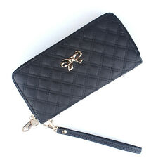 New Fashion Lady Women Long Card Holder Case Leather Clutch Wallet Purse Black