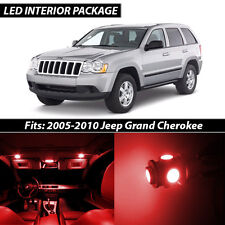 2005-2010 Jeep Grand Cherokee Red Interior LED Lights Package Kit