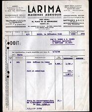 """PARIS (III°) MACHINES AGRICOLES / TRACTEURS BATTEUSES """"La RIMA"""" en 1948"""