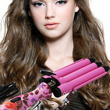 Professional King Size 3 Barrels Big Hair Wave Waver Ceramic Curler Curl Curling