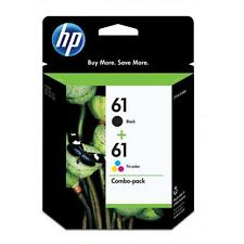 HP GENUINE 61 2-pk Black & Color Ink Cartridges In Retail Box ENVY4500,4501,4504