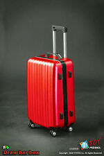 """TITTOYS 1/6 Scale BJD Red PVC Trolley case Model For 12"""" Action Figure cosplay"""