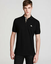 Burberry Brit Men Casual Short Sleeve Nova Mens Polo Shirt Black S Small
