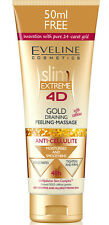 EVELINE Slim4D Anti Cellulite Körperpeeling Peeling Massage 24 Karat Gold 250 ml