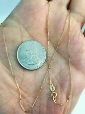 "14k Solid Yellow Gold Classic Box Necklace Pendant Chain 18"" BEST PRICE ON EBAY"