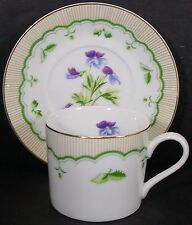 BRIARD Georges china VICTORIAN GARDEN pattern CUP & SAUCER Bird's-Foot Violet