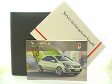 VAUXHALL CORSA D SERVICE BOOK HANDBOOK & WALLET PACK -  2011 To 2015 NEW