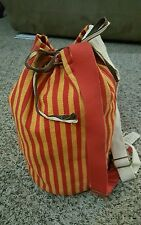 MARC JACOBS X PESETA SAILOR BAG BACKPACK/BEACH BAG/DUFFLE BAG RED/ORANGE STRIPE