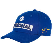 OFFICIAL F1 Ayrton Senna Nacional Sponsor Baseball Cap Hat Blue - NEW & Genuine