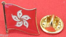 Hong Kong Flag Lapel Hat Tie Pin Badge HK Special Administrative Region Brooch