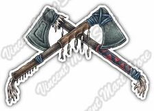 "Indian Warrior Tomahawk Native USA Car Bumper Vinyl Sticker Decal 5""X3.5"""