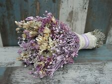 """Wedding Flowers Dried Bouquet Shabby Chic Natural Home Decoration 14"""""""
