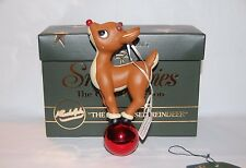 "Snowbabies Rudolph Ornament ""The Red Nosed Reindeer"" Guest Collection Dept 56"