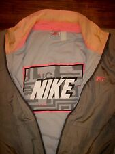 Vtg 80s 90s NIKE Mens XL Windrunner Color Block GRAY TAG windbreaker Coat Jacket