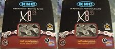 "KMC X8.93----6--7--8--21--24 SPEED 1/2"" X 3/32"" MTB-ROAD BICYCLE CHAINS--1 PAIR"