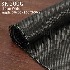 3K 200gsm Real Plain Weave Carbon Fiber Cloth Carbon Fabric Tape 8'' x 24''