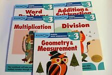 KUMON Math Workbooks Grade 3 Set (5 Books) --  FREE Expedited Shipping Upgrade