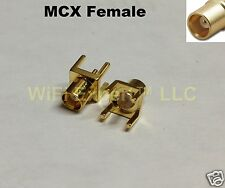 2 x MCX female straight jack center solder PCB mount RF connector ships from USA