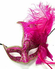 Venetian Masquerade Costume Ball Prom Party Wedding Pink Mask Fr Woman Girl Kid