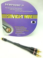 Straightwire Symphony II Y Cable / Splitter Female to Dual Male RCAs NEW!!